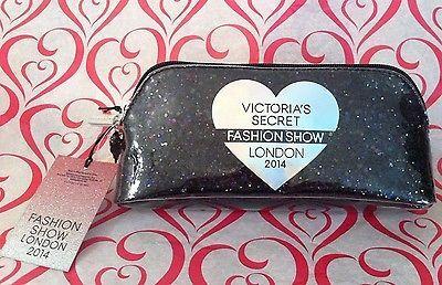 Victoria's Secret London Fashion Show 2014 Black Silver Shimmer Makeup Bag Case | eBay