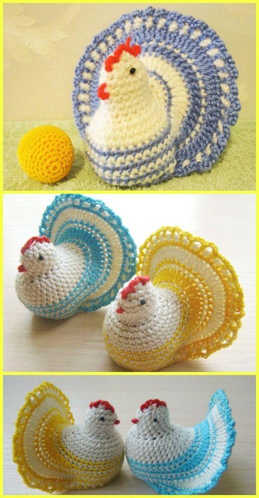 Crochet Easter Chicken Free Pattern [Video Tutorial] #CrochetEaster ...