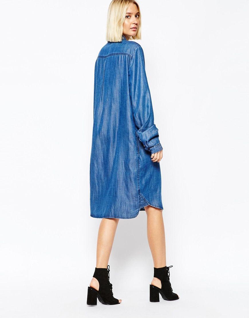 Gestuz   Gestuz - Robe chemise en jean chez ASOS   mode - JEANs ... 828ec394b793