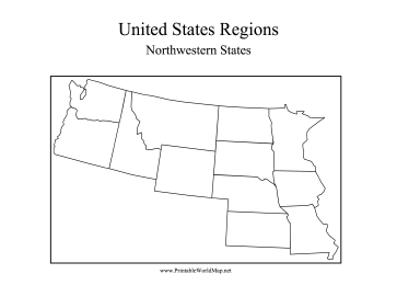 Map Of Northwest States Map Map Of The United States - Map of northwest us states