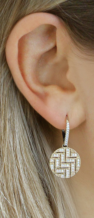 Perfect for the office to a night out and everything in-between, let these undeniably sleek disc drop earrings be the first thing people notice. #diamonds #earrings #danarebecca