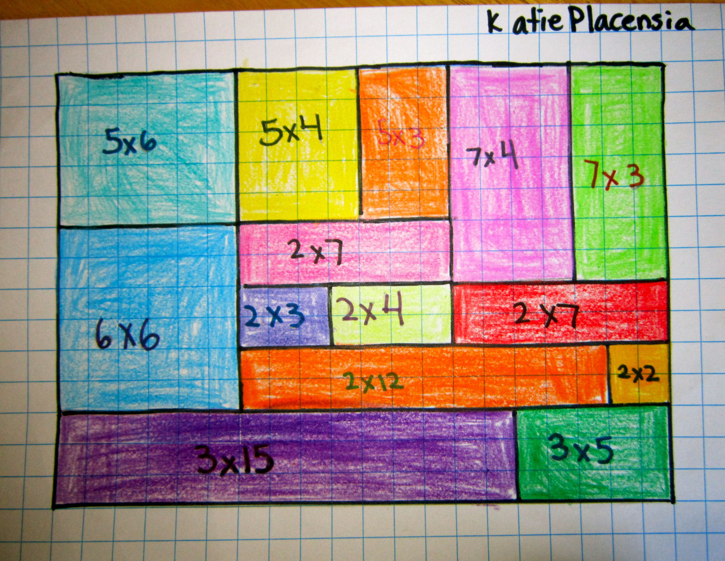 Math Art Grid Lesson Good For Multiplication And Area