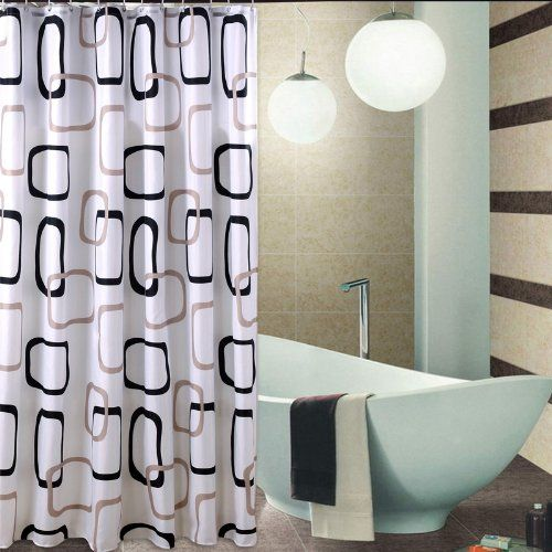 Extra Long Hookless Shower Curtain 112 Inch By 80 Inch Black