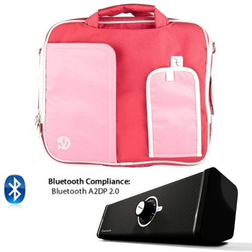 PINDAR Nylon Messenger Shoulder Carrying Bag (Pink-Trim) For ASUS PadFone ( 16GB / 32GB / 64GB ) + Bluetooth Speaker The Pindar Messenger Shoulder Bag was build Stylish, Slim and Protective.. Made out of High Quality Durable water-resistant nylong material that protects your device and accessories from bumps, dents and scratches!. Stream music for your Phone, Tablet, PC, or any Bluetooth enabled d... #VG-VANGODDY #CE