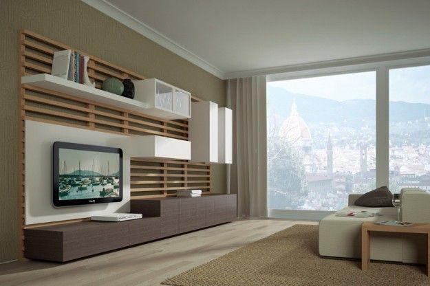 Parete attrezzata - Faba Parete Attrezzata | Living rooms ...