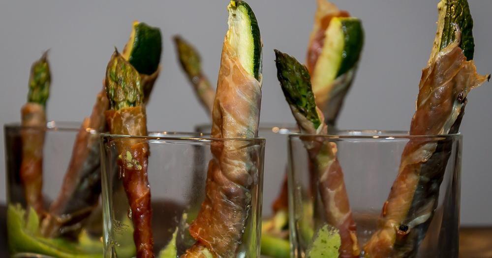 Cuisine-à-Vous - Groen groentenduo met pesto en rauwe ham