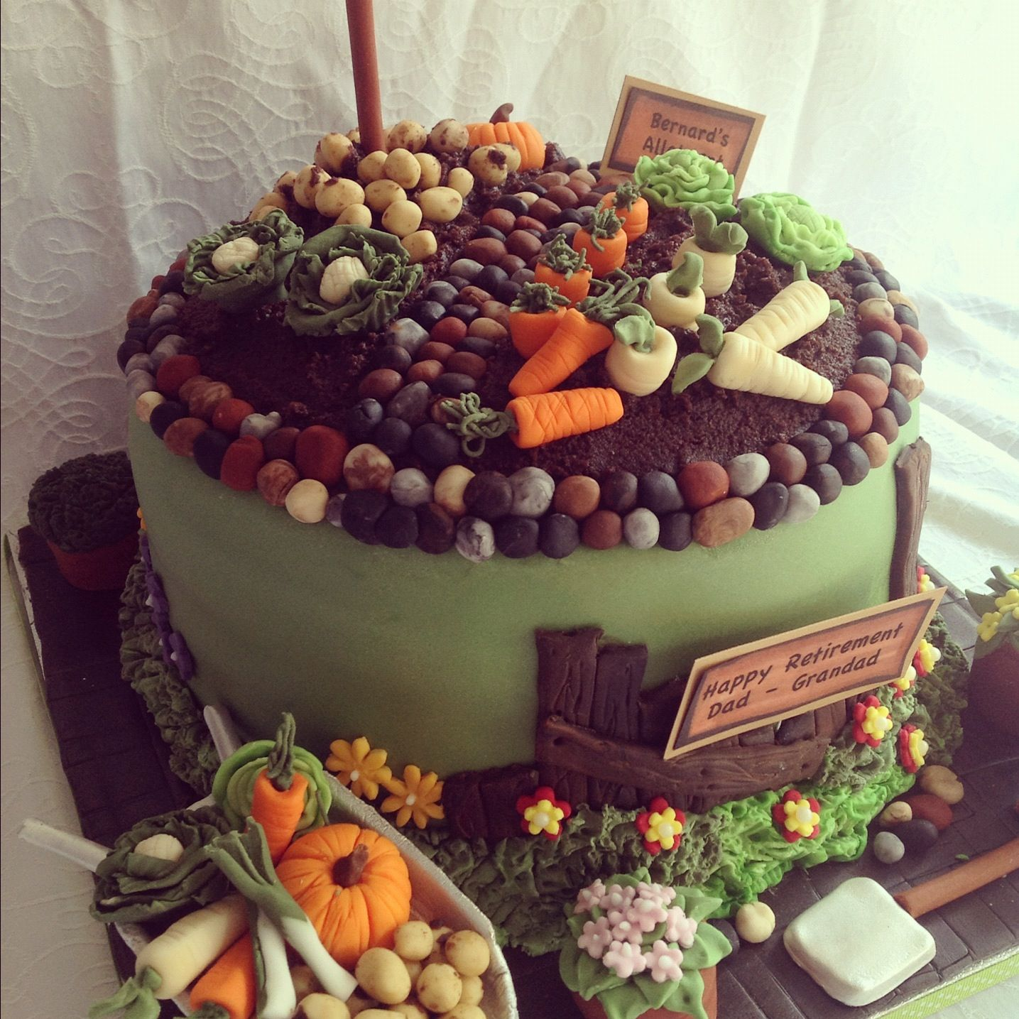Allotment birthday cake | Gateau, Gateau fete