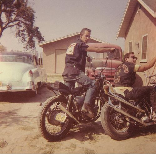 Old pic featuring a Hells Angel from Berdoo  Early/Mid 60s