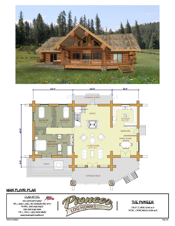 Pioneer Pioneer Log Homes Midwest Log Homes Log Home Floor Plans Log Home Plans