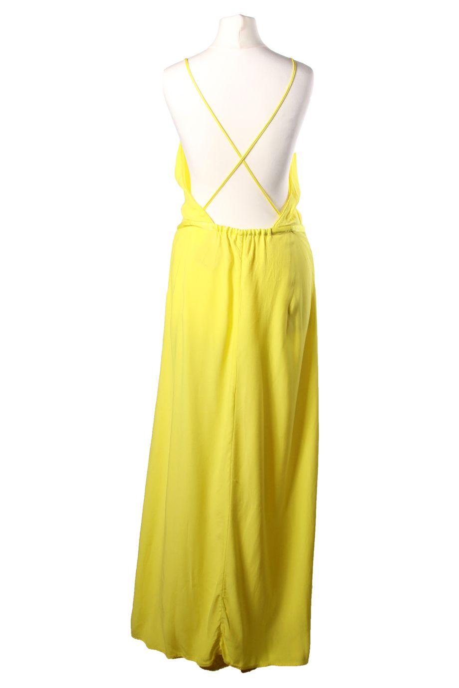 e8776e4ca43 Robe longue jaune fluo BA SH à emprunter Location Robe