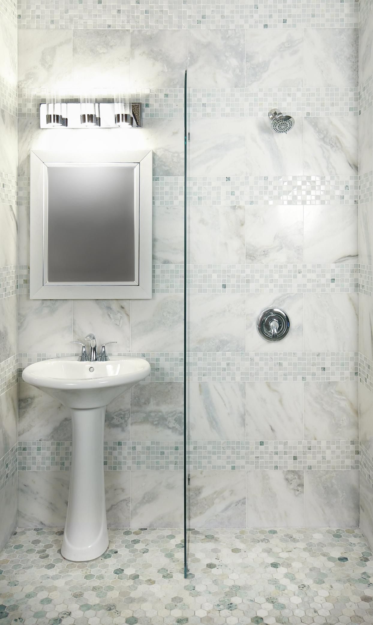Look What I Found At Floor Decor Green Marble Bathroom Marble Tile Bathroom Marble Mosaic