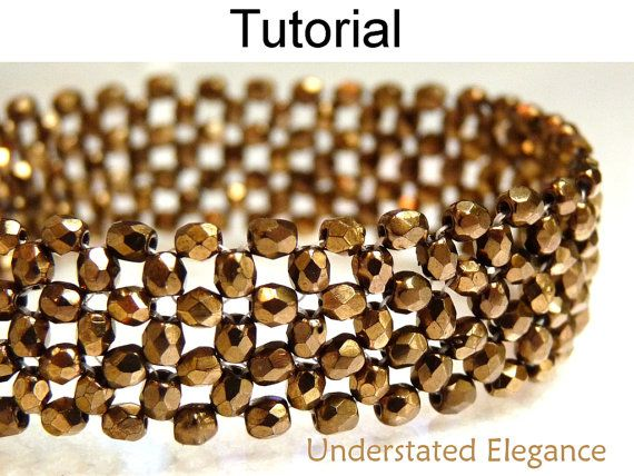 Beading Tutorial Pattern Bracelet - Right Angle Weave RAW - Simple ...