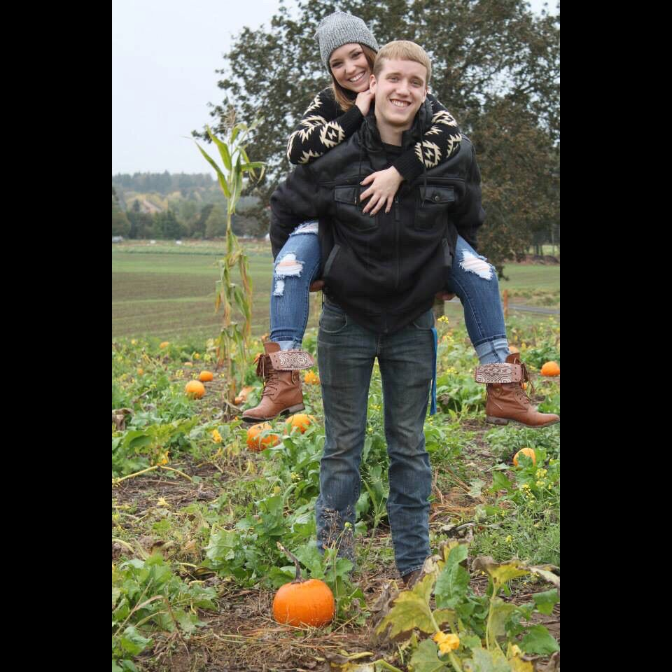 Pumpkin patch couple photos, fall 2014