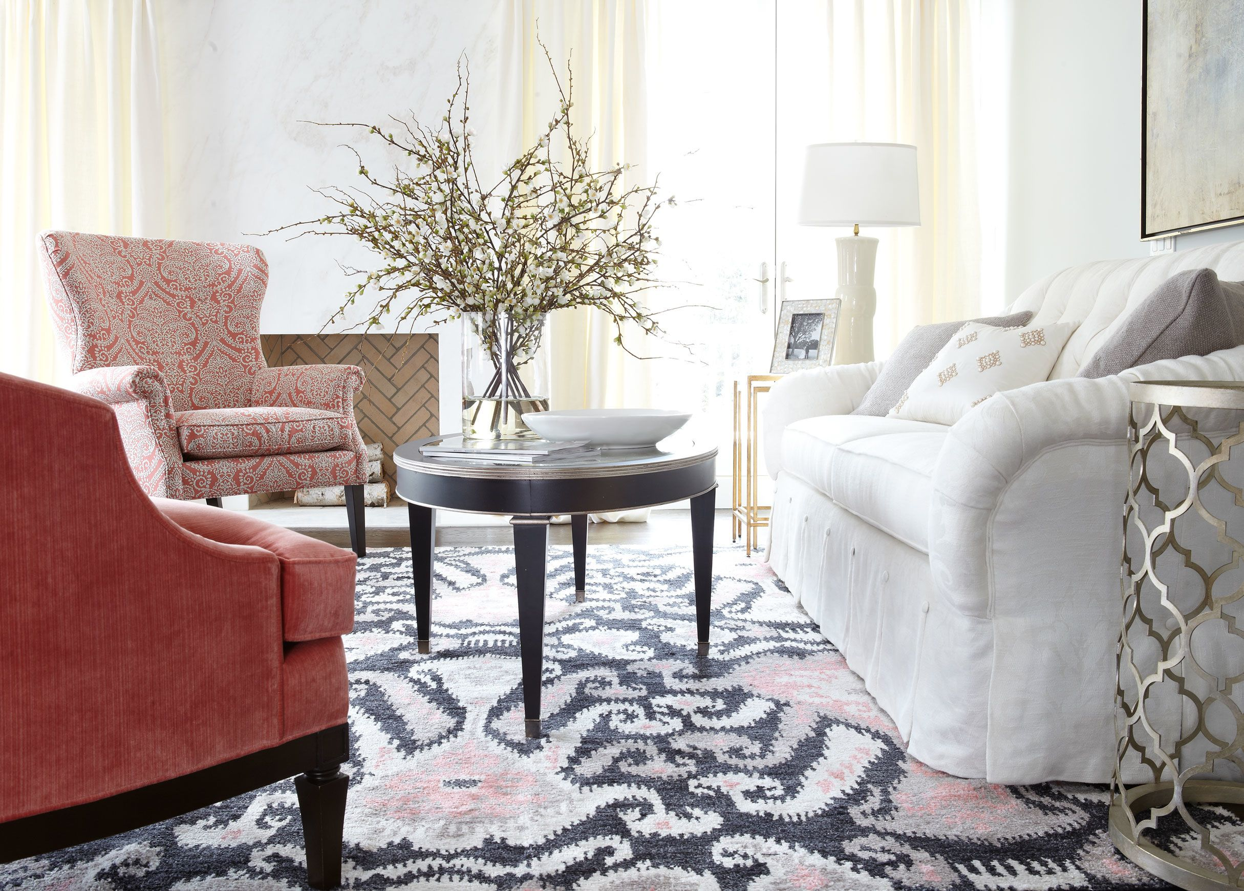 Ikat Rug, Coral Pink - Ethan Allen | Pretty in Pink | Pinterest ...