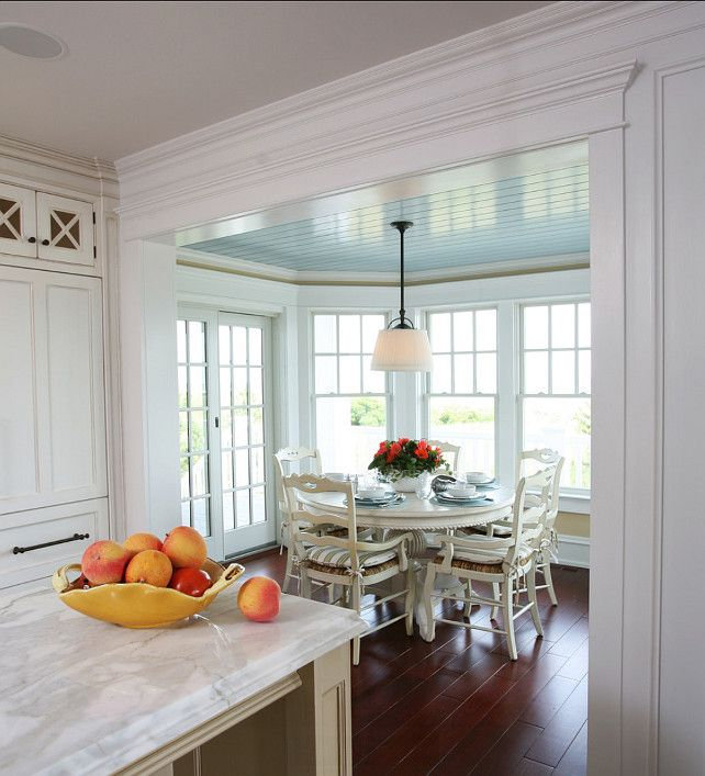 Painted Family Kitchen With Dining Nook: I Love This Little Breakfast Nook Off Of Kitchen. Love