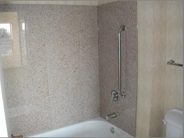 Shower Panels/Tub Surrounds: 4 pcs granite panels + 2 pieces soap ...