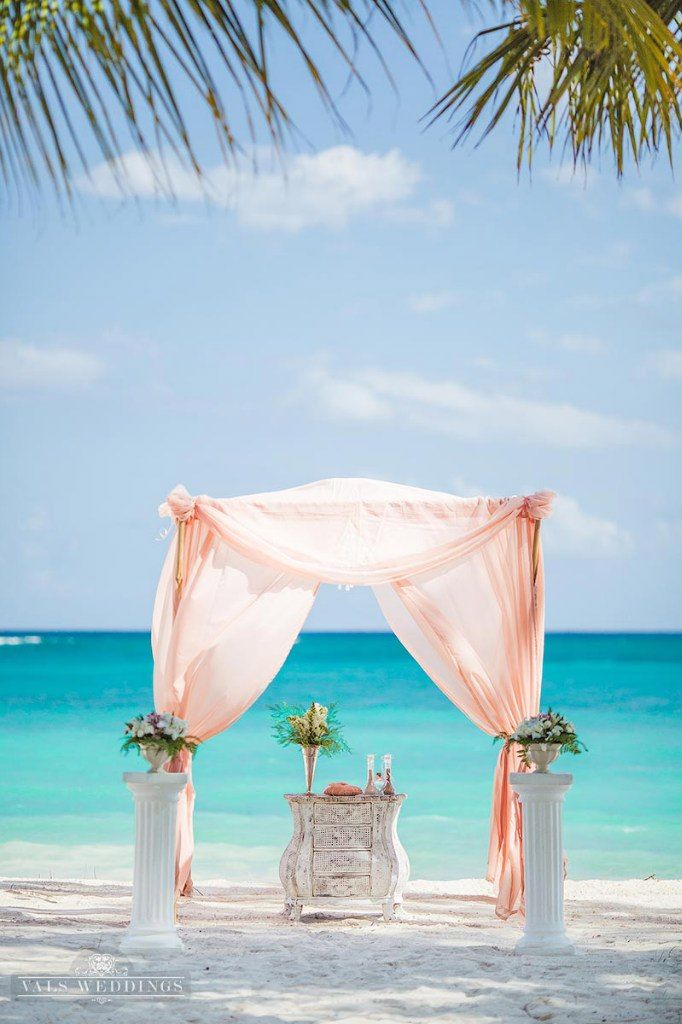 Peach And Blush Ceremony In Punta Cana Vals Weddings