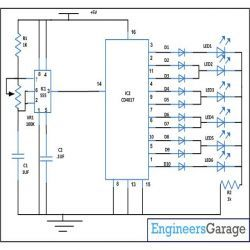 dancing or flashing led circuit diagram electronic circuits rh pinterest com  simple dancing led circuit diagram