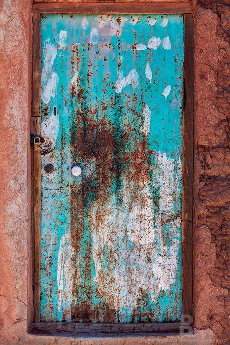 Colorful old worn door