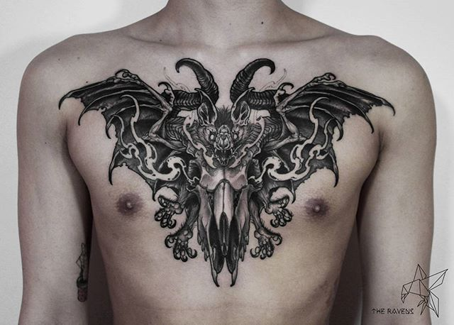 Pin By William Weber On Martial Arts Chest Tattoo Bat Bat Tattoo Chest Tattoo