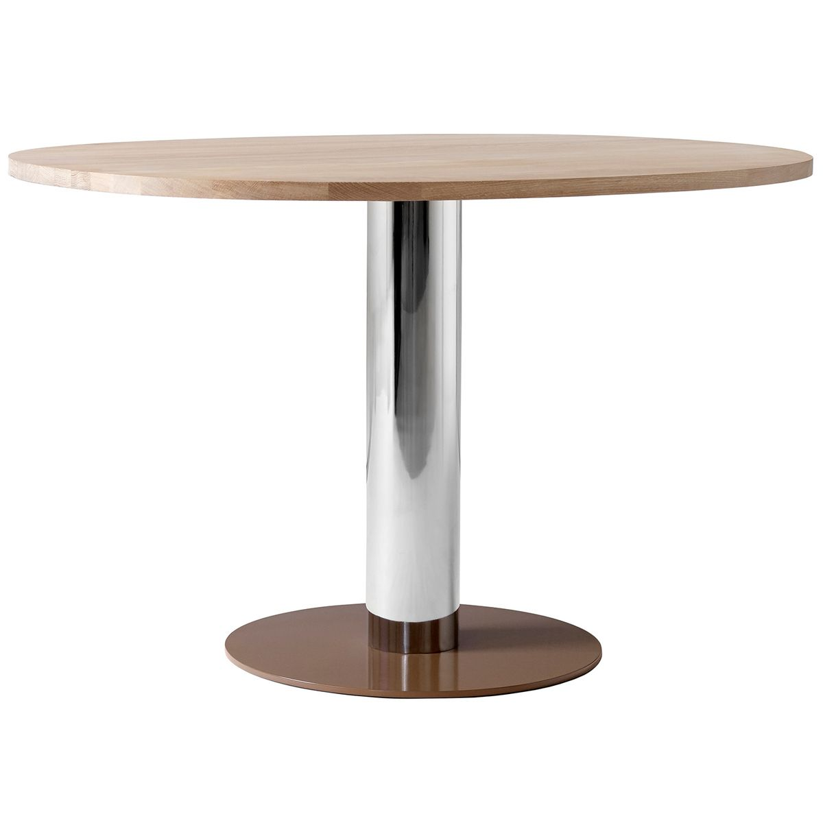 Mezcla Jh22 Dining Table Oak Chrome Clay Dining Table Table Nordic Design Kitchen [ 1200 x 1200 Pixel ]