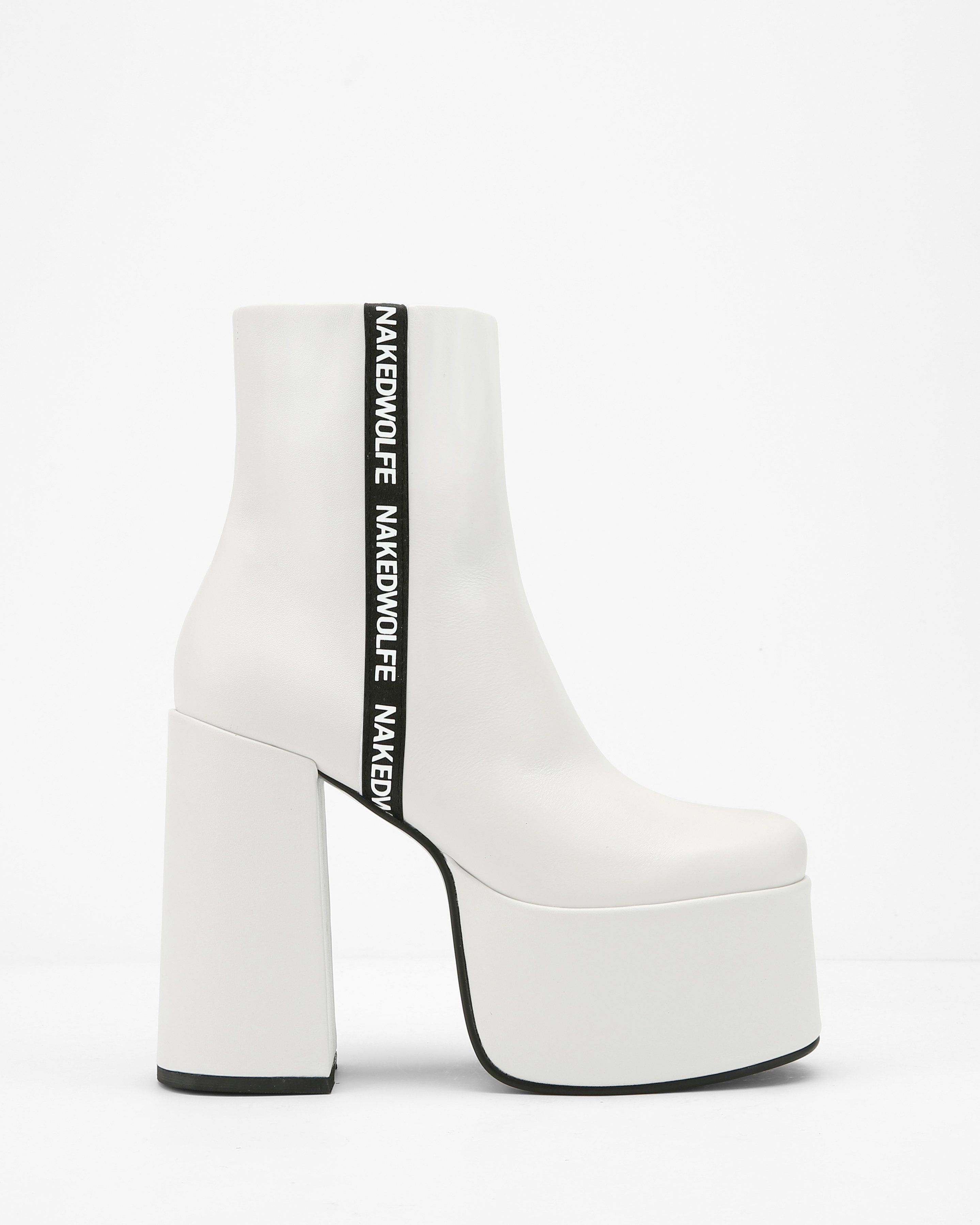 0d0e0375f39db Posh White Leather | Shoes | White leather, Leather ankle boots, Leather