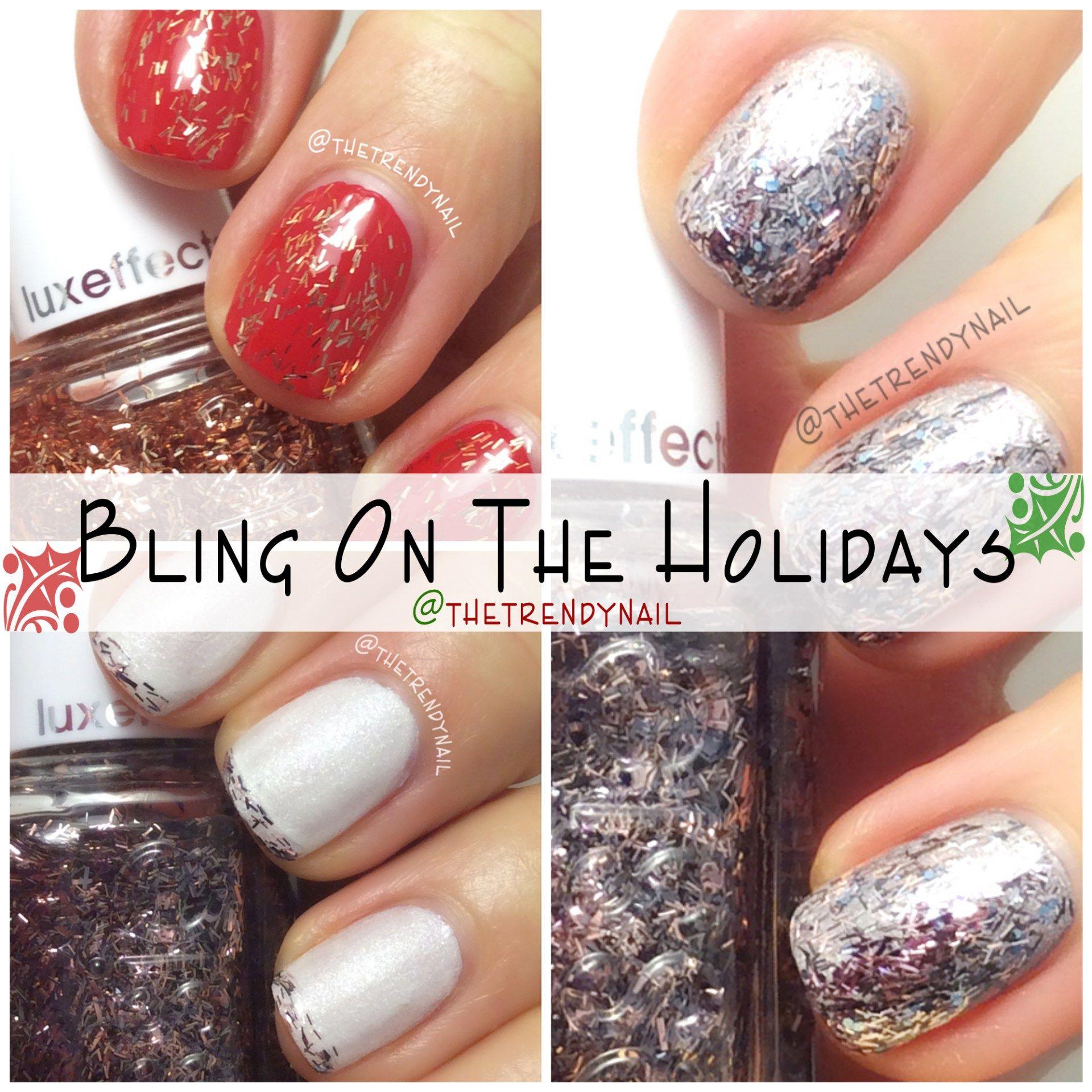 Easy DIY Holiday nail ideas! #Essie #Zoya #nails   Trendy Nail Art ...