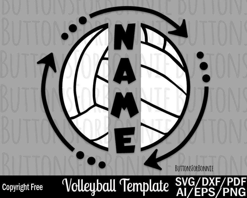 Volleyball Template Svg Volleyball Name Svg Volleyball Mom Etsy Volleyball Mom Volleyball Volleyball Shirt