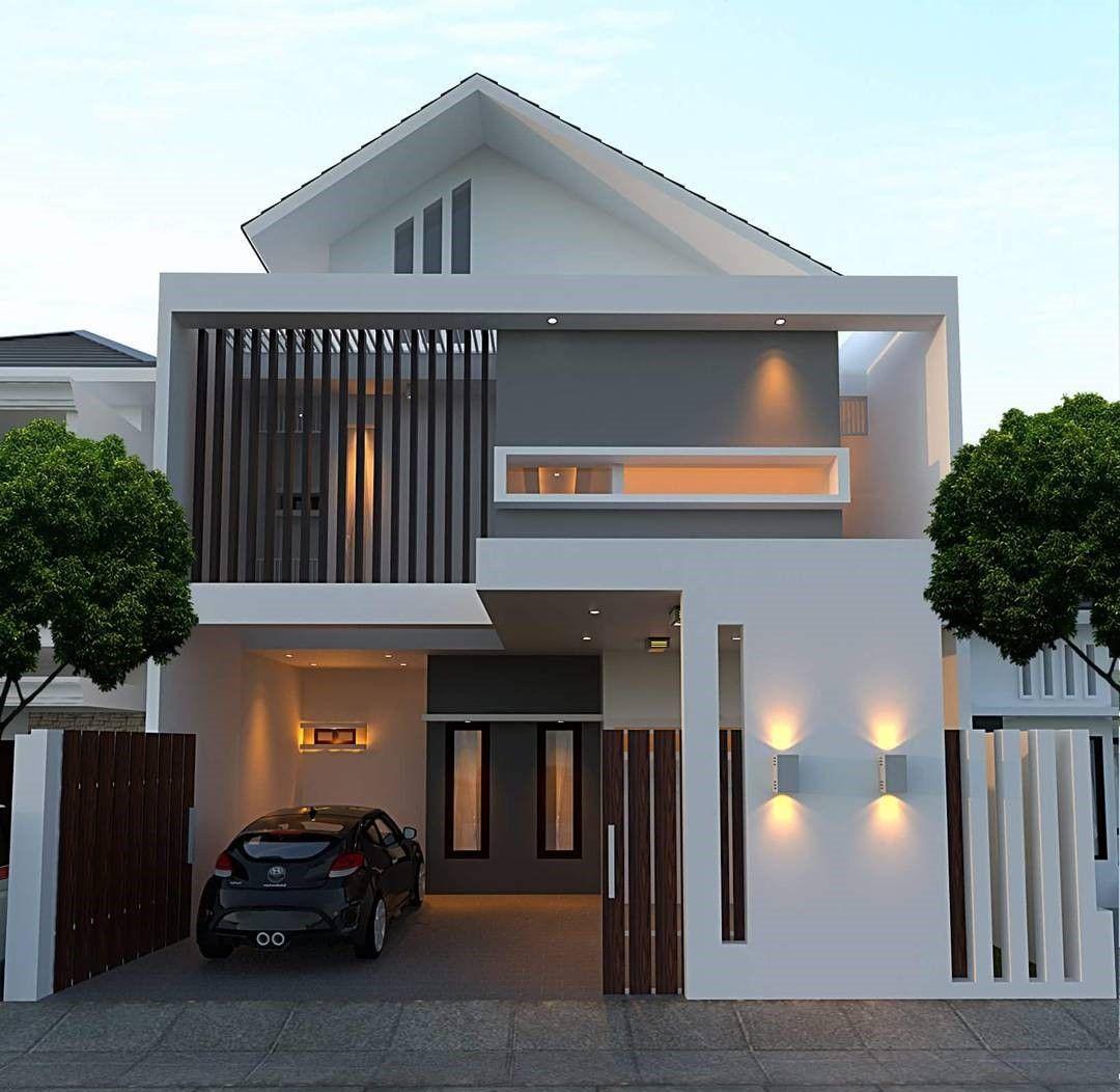 model desain rumah minimalis type 45 1 lantai elegan