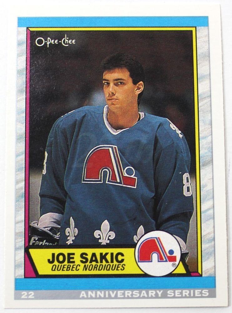 9293 OPC 25th Anniversary 8990 RC Reprint Joe Sakic