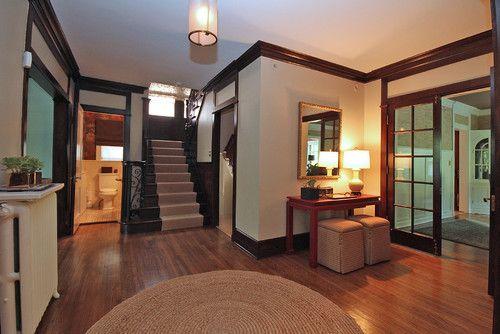 dark trim paint color dark wood trim farmhouse interior on best interior paint colors id=59005