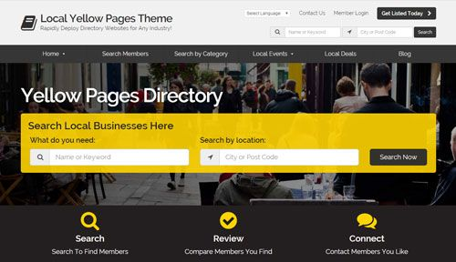 Yellow pages europe
