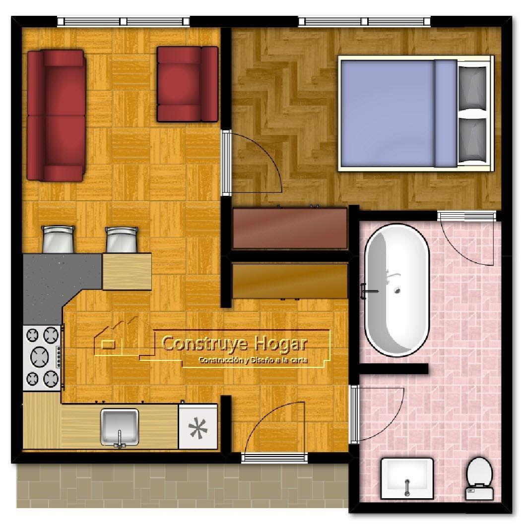 Planos de casas muy peque as buscar con google dise os for Apartamentos pequenos planos