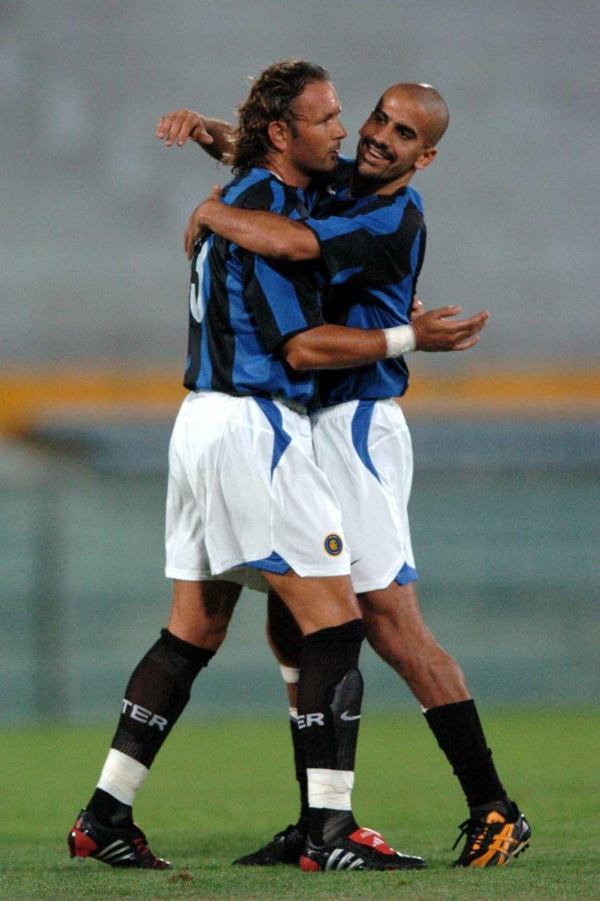 Sinisa Mihajlovic et Juan Sebastian Veron Inter Milan