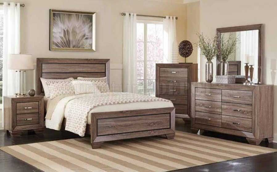 Kauffman Dresser Mirror Queen Bed 204191 Bedroom Sets White Furniture Living Room Home Furniture Furniture