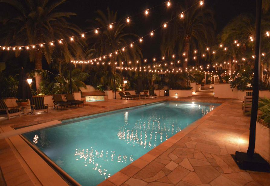 900 pool backyard lighting ideas