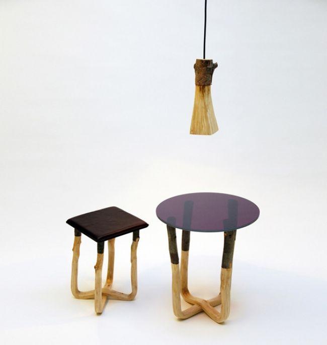 "Young German designer Johannes Hemann re-interprets this art with furniture series ""Pressed Wood""."
