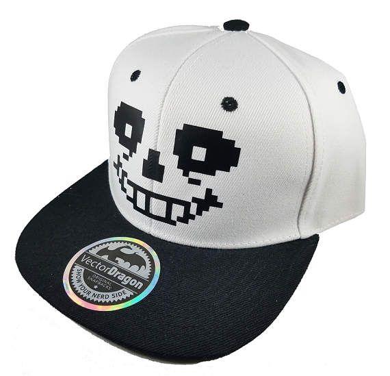 53102b4d132 Undertale Sans Face Snapback Trucker Cap Hat
