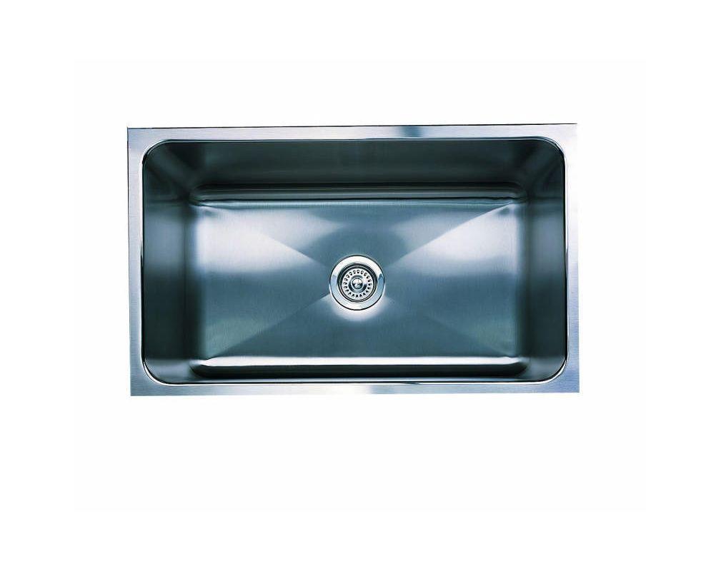 Blanco 440300 Magnum Single Basin Stainless Steel Kitchen Sink With 12 Depth 31 Satin Fixture Kitchen Sink Stainles Sink Undermount Kitchen Sinks Single Basin