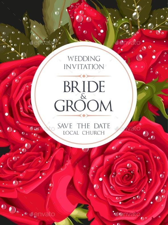 Vintage #Wedding #Invitation - Flowers & Plants Nature Download here: https://graphicriver.net/item/vintage-wedding-invitation/20058236?ref=alena994