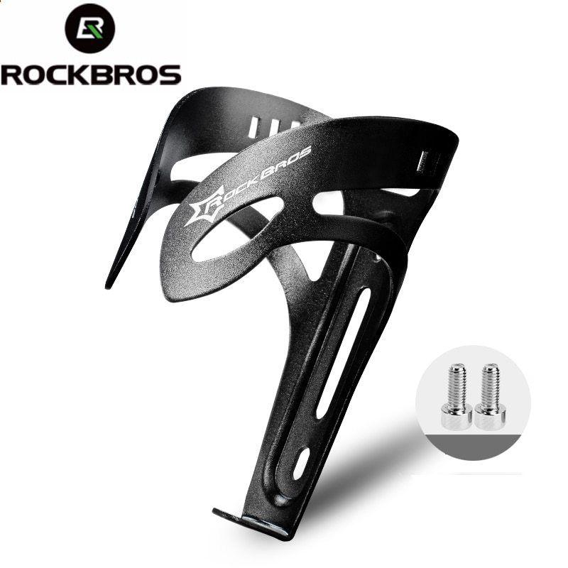 RockBros Aluminium Alloy Water Bottle Cage Bike Standard Bottle Holder Black