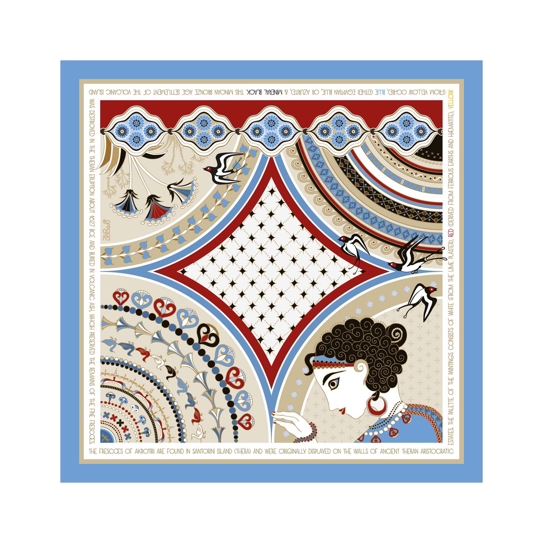 Grecian Chic | SANTORINI Silk Scarves by Elena Zournatzi