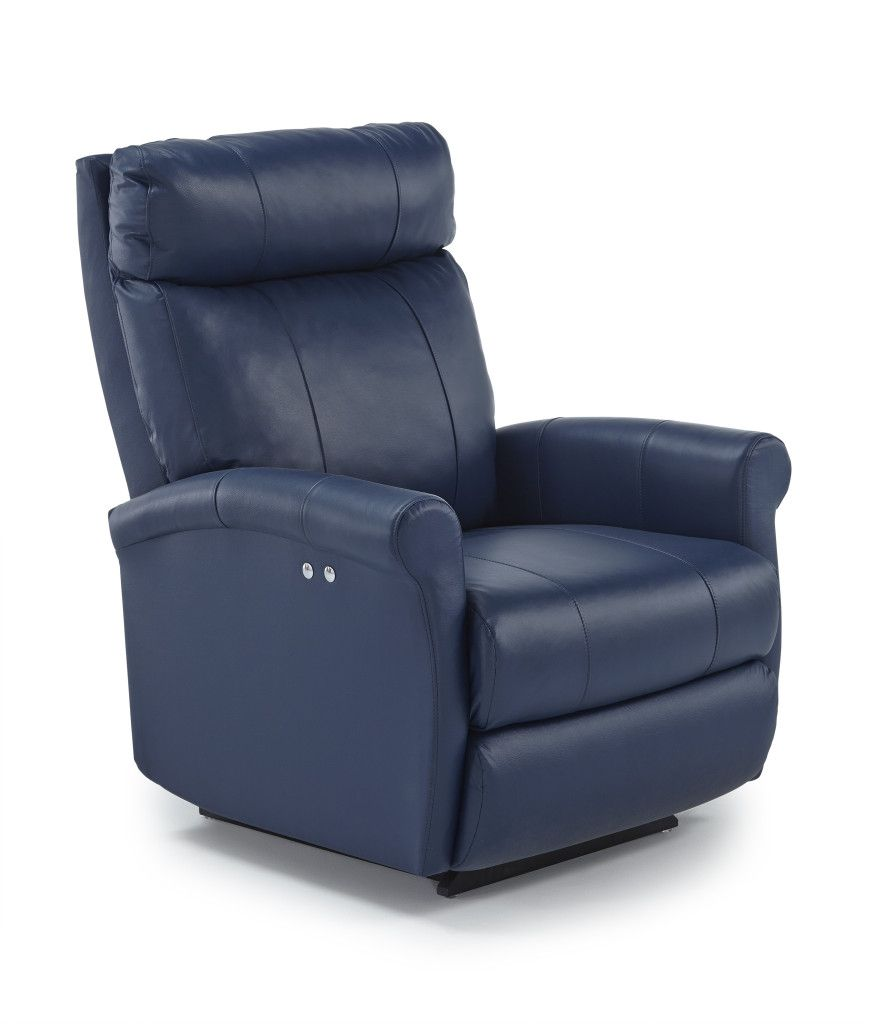 This Modern Rocking And Swiveling Recliner Has A Minimal