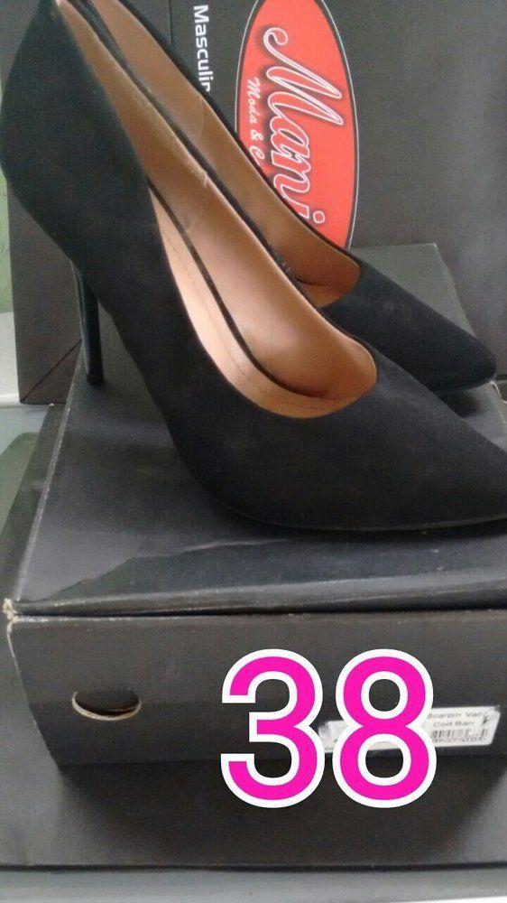 Sapato adulto scarpin aveludado