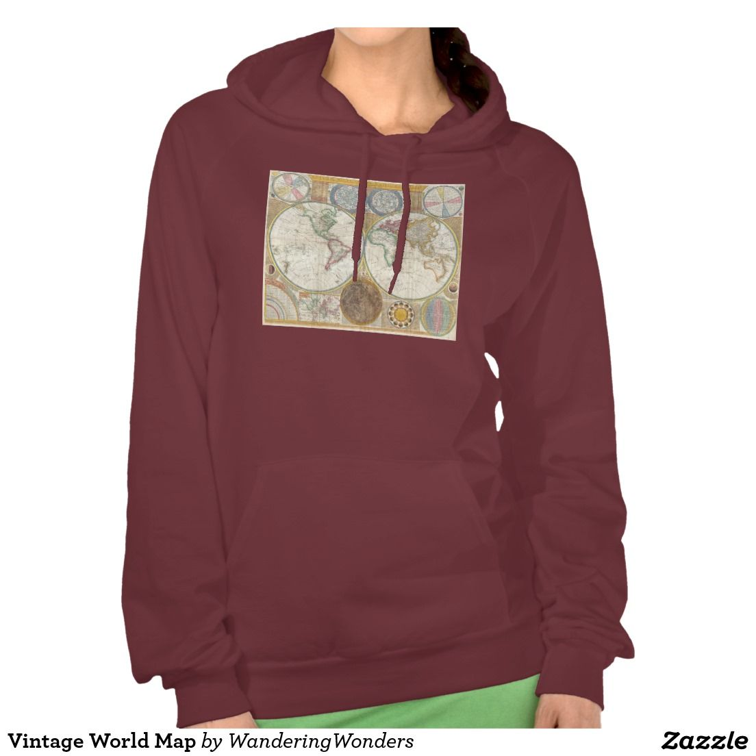 Vintage world map hoodie gumiabroncs Choice Image