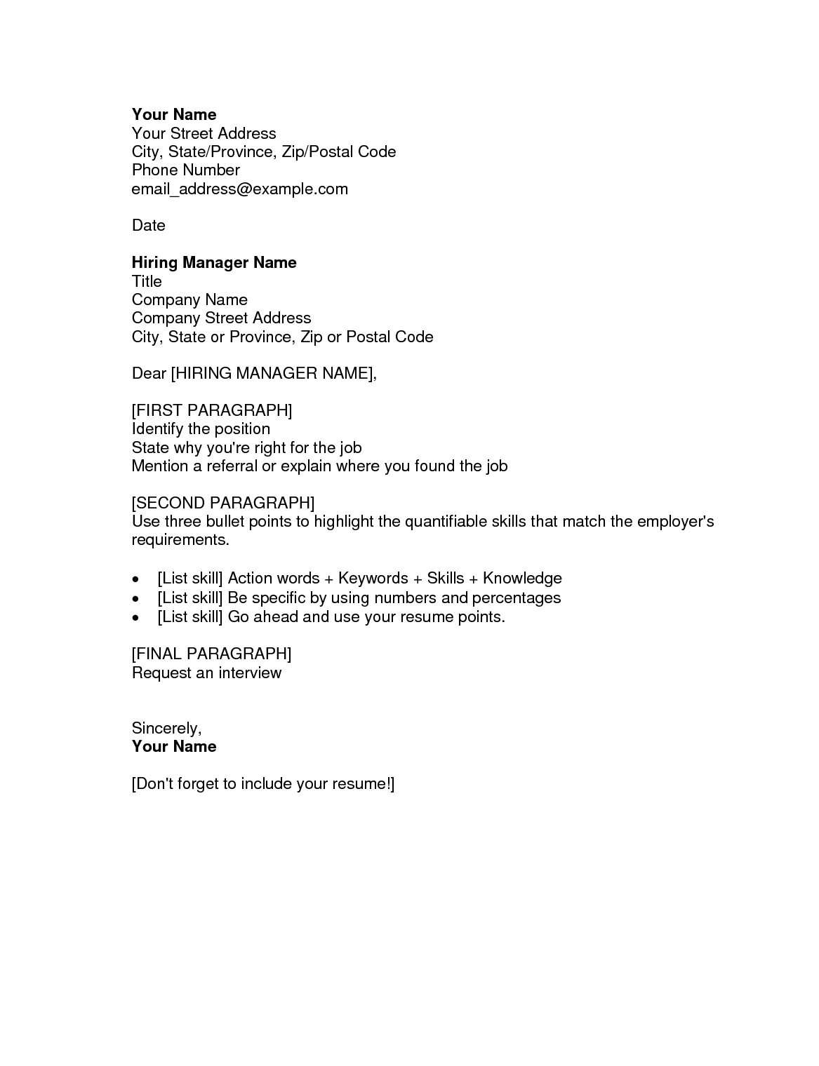 Resume Example Example Of Cover Letter General General