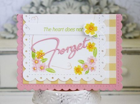 The Heart Does Not Forget Card by Melissa Phillips for Papertrey Ink (June 2016)