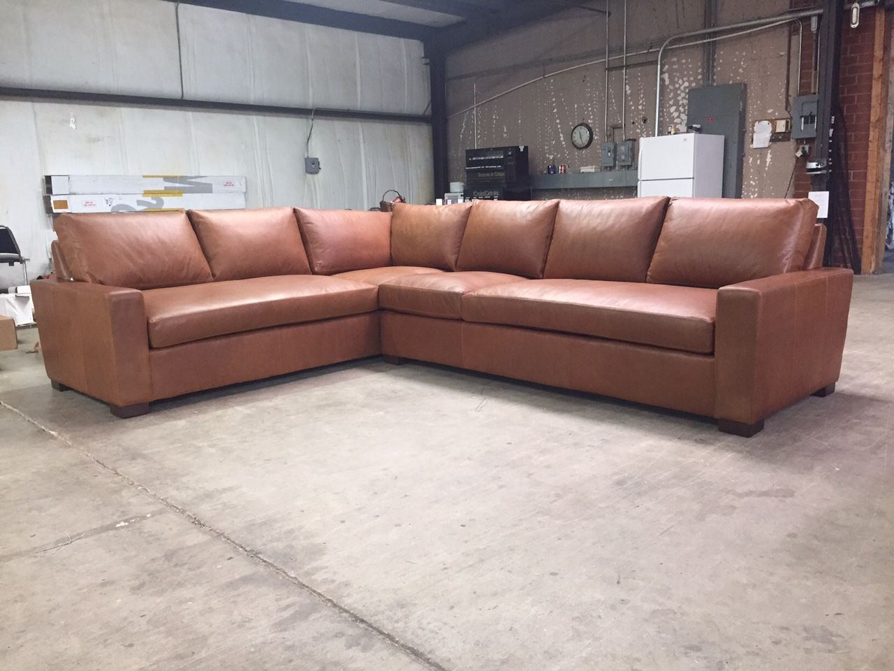 Pleasing This Lovely Mcqueen Leather Sectional Is Sensational Plenty Pabps2019 Chair Design Images Pabps2019Com
