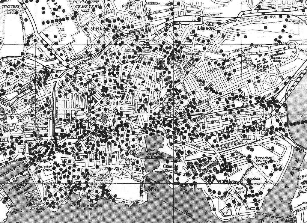 Map Of England Plymouth.Where The Bombs Fell Plymouth Centre In 2019 Plymouth Plymouth