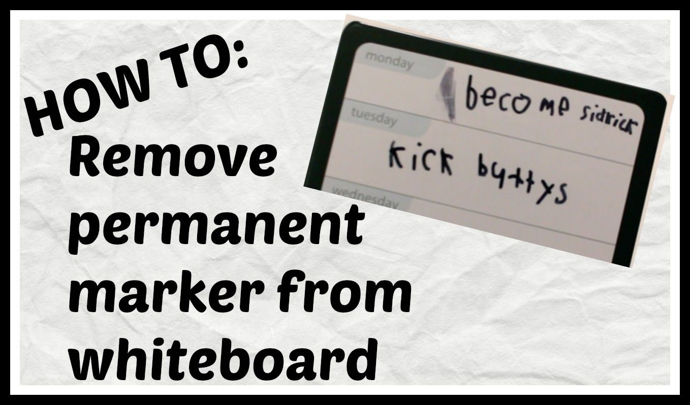 Video How To Remove Permanent Marker From A Whiteboard Video Howto Diy Sharpie Whiteboard Dryer Remove Permanent Marker Dry Erase Board How To Remove